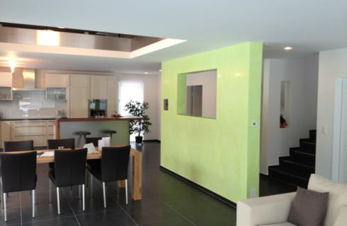 Stucco Veneziano im Essbereich - Projekt ausgeführt von Massimo Color, Hergiswil