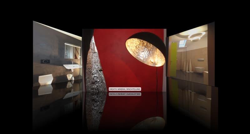 Kreativ Mineral Spachtelung - Fachgebiet von Massimo Color, Malergeschäft, Hergiswil