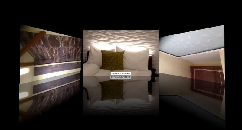 Kreativ Tapezieren - Fachgebiet von Massimo Color, Malergeschäft, Hergiswil
