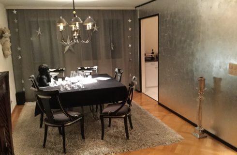 Versilbern Wand und Stühle - Projekt ausgeführt von Massimo Color, Hergiswil