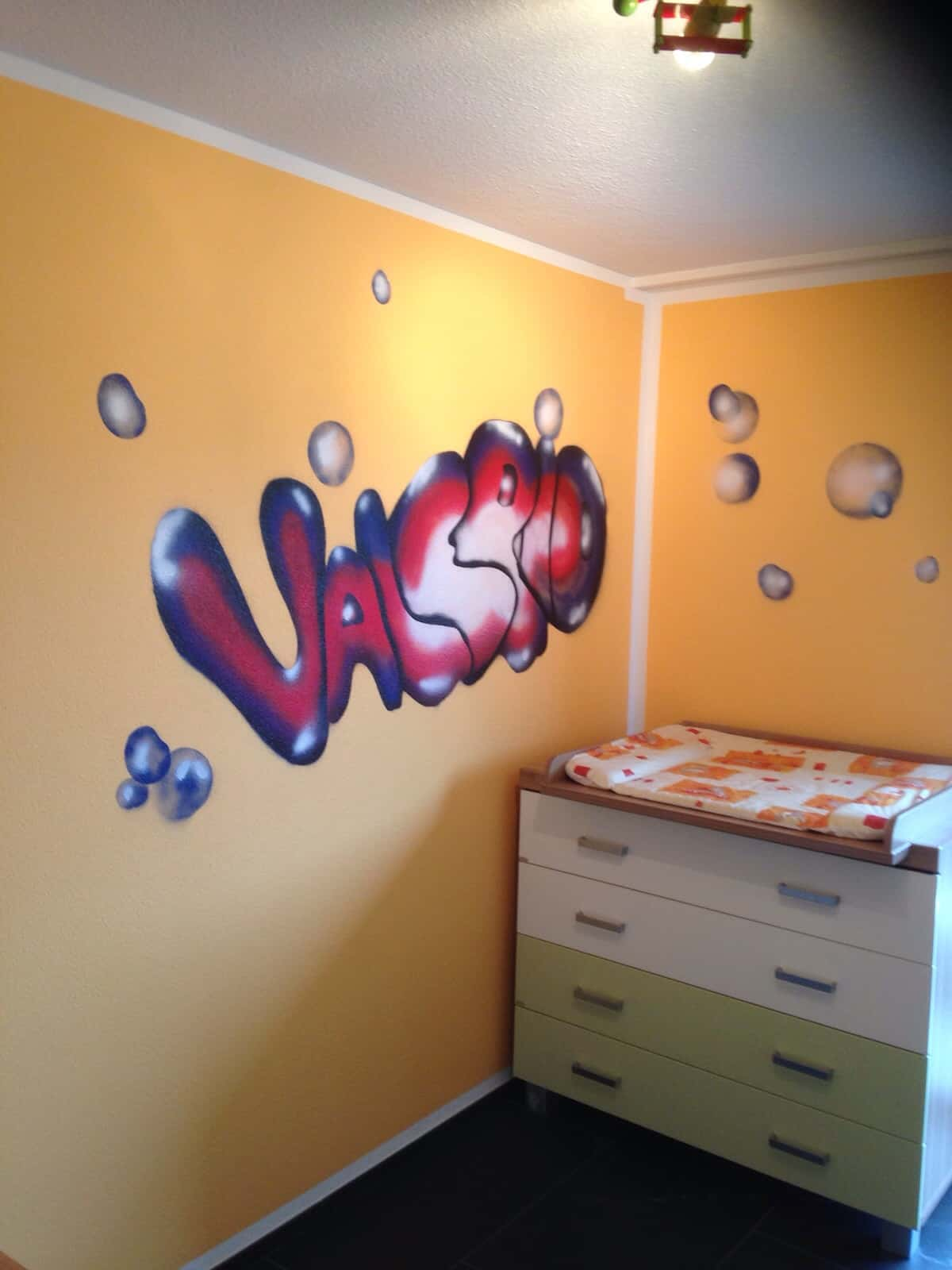 Strassenkunst im Kinderzimmer - Massimo Color