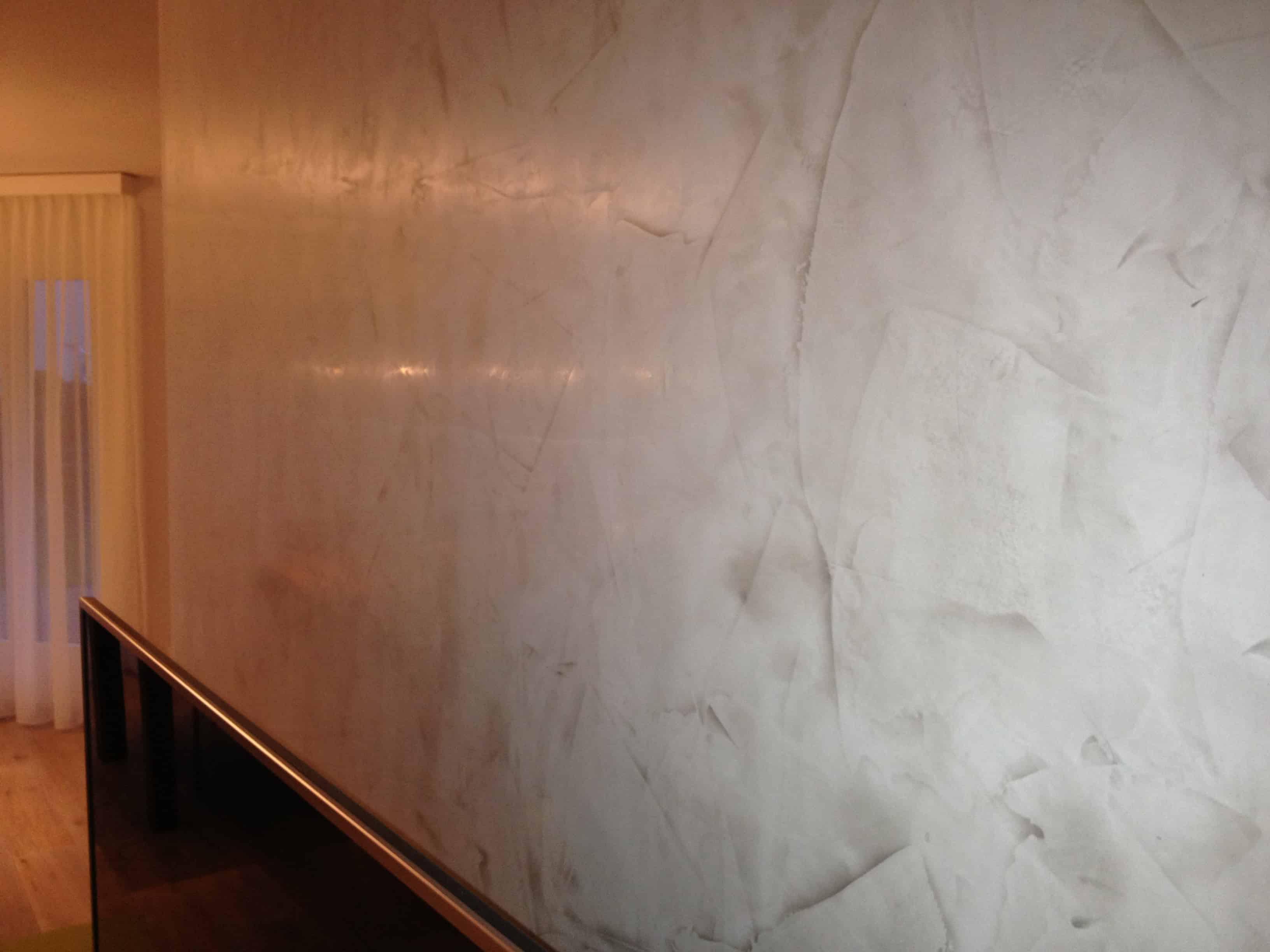 Stucco Veneziano - Wand in Wohnzimmer