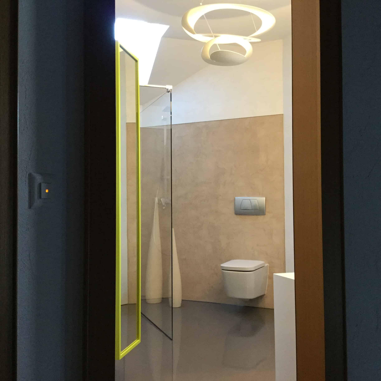 Fugenlos: Wandbeschichtung - Bodenbelag Badezimmer